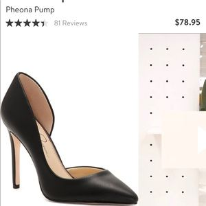 Black Leather Heels by Jessica Simpson